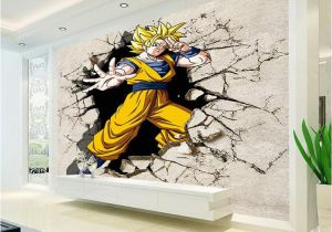 Man On the Moon Wall Mural Dragon Ball Wallpaper 3d Anime Wall Mural Custom Cartoon