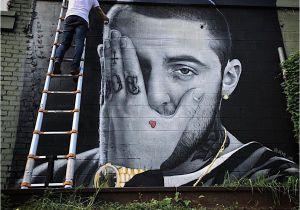 Manchester City Wall Mural Nc Jeks Gedenkt Mac Miller Mit Einem Mural Am 7 September