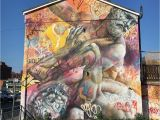 Manchester City Wall Mural Up In Manchester for A Few Days Great City This Mural by