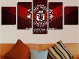 Manchester United Wall Murals Manchester United Logo 5 Piece Canvas Painting