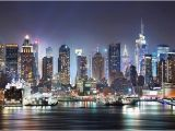 Manhattan Lights Wall Mural High Tech Reflections New York City Great Picture