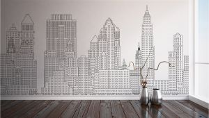 Manhattan Skyline Wall Mural Manhattan Skyline New York City Nyc Custom Printed Wall