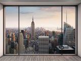 Manhattan Skyline Wall Mural Vlies Fototapete Penthouse In New York