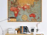 Map Wall Mural Kids Vintage World Map Wall Sticker for Kids Room Bedroom Europe