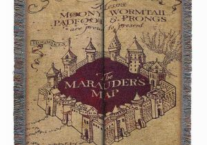 Marauders Map Wall Mural Harry Potter Marauder S Map Woven Tapestry Throw Blanket