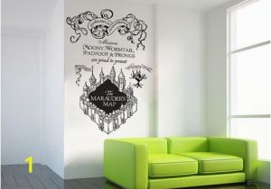 Marauders Map Wall Mural Harry Potter the Marauder S Map Moony Warmtail Padfoot