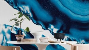 Marbled Agate Wall Mural Blue Agate 3 Wall Mural Wallpaper Surface In 2019