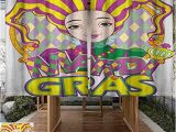 Mardi Gras Wall Mural Amazon andytours Living Room Bedroom Window Curtains