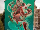 """Mardi Gras Wall Mural Nychos """"dissection A Polar Bear"""" A 5 Stories Piece In"""