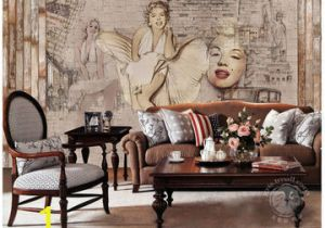 Marilyn Monroe Mural Wallpaper China Gris Nifty Marilyn Monroe Wallpaper Pure Hand Draw Wall Mural