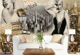 Marilyn Monroe Mural Wallpaper Vintage Wall Papers Stickers Marilyn Monroe Wallpaper Home