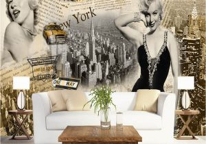 Marilyn Monroe Mural Wallpaper Vintage Wall Papers Stickers Marilyn Monroe Wallpaper Home