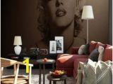 Marilyn Monroe Murals Marilyn Monroe Foto Tapete Schwarz Weiß Wandmalereien Für Wohnzimmer