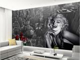 Marilyn Monroe Murals Modern Simple Black and White Building Marilyn Monroe