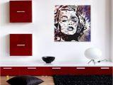 Marilyn Monroe Wall Mural Leinwandbild Marilyn Monroe Gesicht