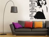 Marilyn Monroe Wall Murals Y Marilyn Monroe Wall Decal Stickers Home Decor Easy Removable