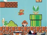 Mario Bros Wall Mural Super Mario Decals Game Room Vintage Nintendo Decals