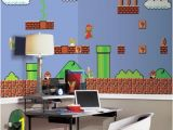 Mario Bros Wall Mural Super Mario Retro Xl Chair Rail Prepasted 10 5 X 6 Mural