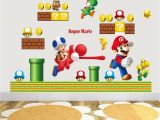 Mario Brothers Wall Mural Hot Sale New Cartoon Wall Sticker Super Mario Bros Vinyl Removable Decals Kids Nursery Wall Sticker Decoration Wall Sticker Decoration Art From