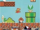 Mario Brothers Wall Mural Super Mario Decals Game Room Vintage Nintendo Decals