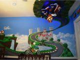 Mario Kart Wall Mural Diy Baby Jungen Sport themen Kinderzimmer Ideen