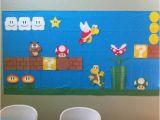 Mario Kart Wall Mural Super Mario Birthday themed Backdrop Made From Construction