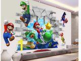 Mario Kart Wall Mural Super Mario Bros Kinder Abnehmbare Wandaufkleber Abziehbilder Kindergarten Wohnkultur Wandbild Für Jungen Schlafzimmer Wohnzimmer Wandbild Kunst