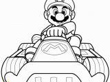 Mario Motorcycle Coloring Pages Mario Kart 8 Coloring Page