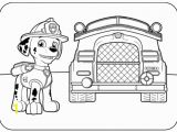 Marshall Fire Truck Coloring Page Paw Patrol Birthday