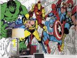 Marvel Avengers Wall Mural Marvel Classics Character Wallpaper Mural 10 5 X 6