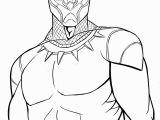 Marvel Characters Coloring Pages Black Panther Black & White Art