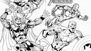Marvel Characters Coloring Pages Marvel Superheroes Avengers In Action Coloring Page for Kids