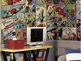 Marvel Comic Book Wall Mural Fablon Fab Ic Adhesive Grey Amazon