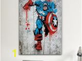 Marvel Comic Book Wall Mural Icanvas Marvel Ic Book Captain America Spray Paint