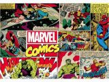 Marvel Comic Book Wall Mural Marvel Retro Ic Covers 2 76m X 190cm Matte Wall Mural