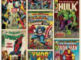 Marvel Comic Book Wall Mural Marvel Tegneserier K¸b B¸rnetapet Med forsider Fra Marvel