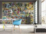 Marvel Comic Book Wall Mural Pinterest