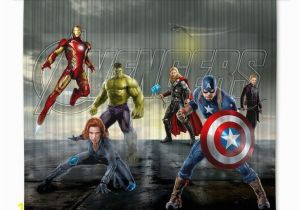 Marvel Comics Mural Wall Graphic Avengers Marvel Kinderzimmer Gardine Vorhang 180×160 Cm 2