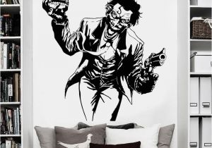 Marvel Comics Mural Wall Graphic Us $10 26 Off Heath Ledger Joker Wall Sticker Ics Superhero Dc Marvel Vinyl Decal Home Interior Decoration Room Art Mural In Wall Stickers From