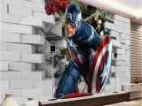 Marvel Heroes Wall Mural Avengers Captain America 3d Wall Mural Wallpaper