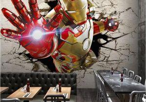 Marvel Wall Murals Wallpaper 3d Stereo Custom Lo Otive Murals Iron Man Broken Wall
