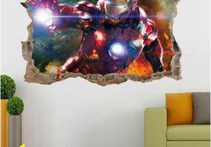 Marvel Wall Murals Wallpaper Details About Marvel Avengers Hulk Iron Man 3d Smashed Wall