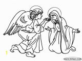 Mary and Joseph Coloring Page Angel Gabriel Appears to Mary