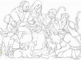 Mary and Joseph Coloring Page Nativity Shepherds Stock Illustrations – 214 Nativity