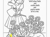 Mary Mary Quite Contrary Coloring Page 104 Best Nursery Rhymes Images On Pinterest