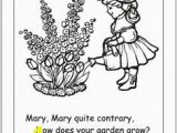 Mary Mary Quite Contrary Coloring Page 22 Best Spring Preschool Kids Activities and Crafts Images On