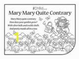 Mary Mary Quite Contrary Coloring Page 58 Best Nursery Rhymes Activities Images