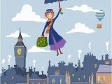Mary Poppins Wall Mural Mary Poppins Mural London Roofs Wallpaper Nursery London Mural