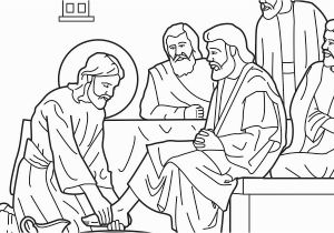 Mary Washes Jesus Feet Coloring Page 為孩子們的著色頁 Jesus Washes His Disciples Feet Coloring Pages