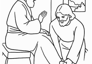 Mary Washes Jesus Feet Coloring Page Kindness Kindness Jesus Washing Feet Coloring Pages